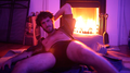 Lil Dicky Striking a Seductive Pose in His Living Room.png