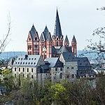 Limburg an der Lahn-Burg und Dom vom nordwestlichen Greifenberg von Suedosten-20140330.jpg