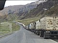 Line of trucks from Georgia and Armenia waiting to enter Russia (37109052573).jpg