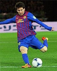 Lionel Messi, Player of FC Barcelona team.JPG