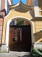 Listed office building, gate. - 2 Kossuth Street, Eger, 2016 Hungary.jpg