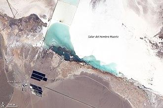 Material criticality - Lithium mine, Salar del Hombre Muerto, Argentina