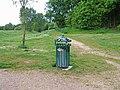 Litter bin in Springfield Park - geograph.org.uk - 1324178.jpg