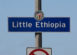 Little Ethiopia, Los Angeles - Little Ethiopia sign at Fairfax Avenue and Olympic Boulevard