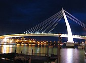 Lover Bridge of Tamsui in Taiwan