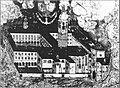 Ljubljana - Frančiškanski samostan s cerkvijo in mestnimi vrati 18. st.jpg