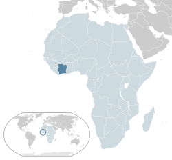 Location of  Ivory Coast  (dark blue)– in Africa  (light blue & dark grey)– in the African Union  (light blue)