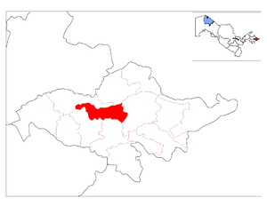 Oltinkol District - Image: Location of Oltinko'l District in Andijon Province