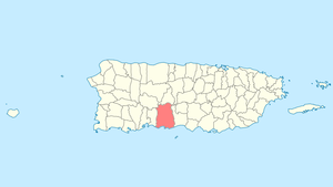 Location of Ponce in Puerto Rico