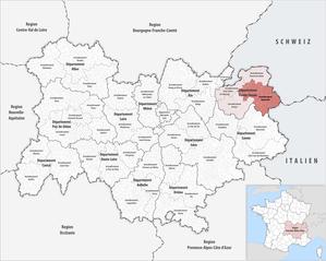 Arrondissement of Bonneville - Image: Locator map of Arrondissement Bonneville