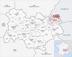 Arrondissement of Thonon-les-Bains - Image: Locator map of Arrondissement Thonon les Bains
