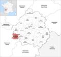 Locator map of Kanton Pays de Montaigne et Gurson 2019.png