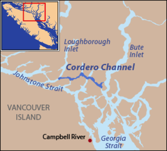 Cordero Channel - Cordero Channel is part of a series of straits connecting the Strait of Georgia and Johnstone Strait.