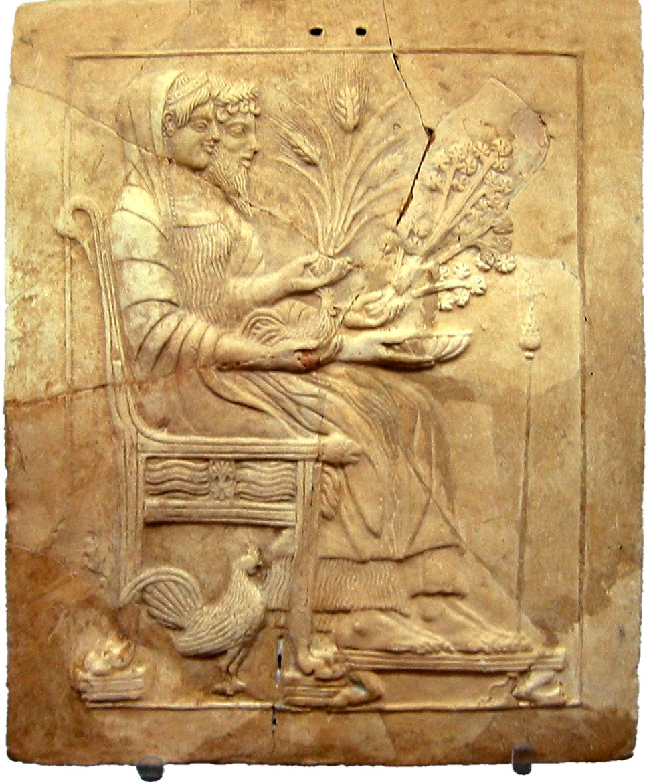 Locri Pinax Of Persephone And Hades