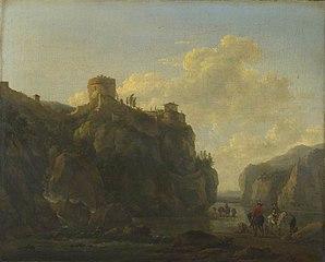 A River between Rocky Cliffs