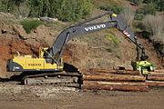 Computerized heavy machinery log cutting increases capital costs, yield, productivity, and personnel safety