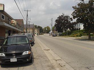 Wellesley, Ontario - Looking north on Nafziger Rd. halfway through Wellesley