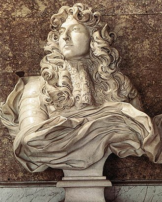 Palace of Versailles - Bust of Louis XIV by Bernini in the Diana Salon of the Palace of Versailles