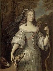 Porträt Louise de La Vallière als Göttin Diana