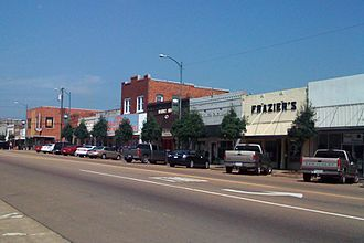 Louisville, Mississippi - Main Street in Louisville, 2008