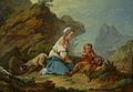 Loutherbourg-Agar regardant son fils boire après la découverte de la source.jpg
