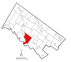 Location of Lower Providence Township in Montgomery County