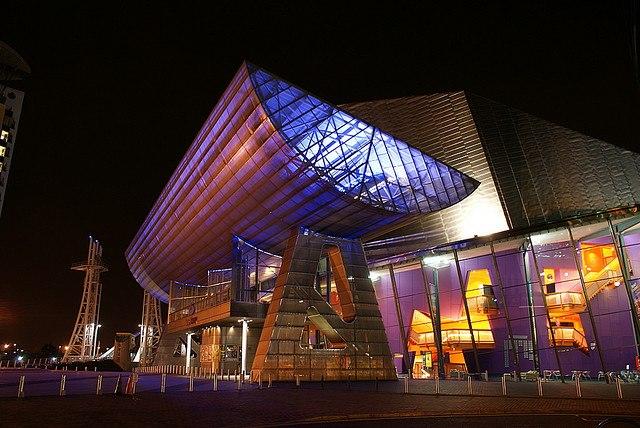Lowry Theatre at night