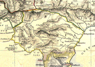 La regione storica della Lucania.