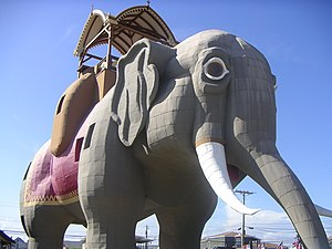 National Register of Historic Places listings in New Jersey - The Margate elephant, Atlantic County