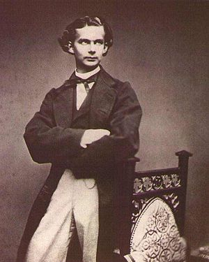 Ludwig II of Bavaria - Ludwig II just after his accession to the throne of Bavaria in 1864