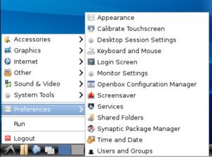 LXDE - Image: Lxpanel menu