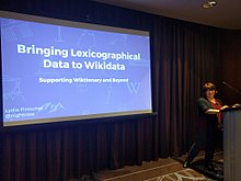 Lydia Pintscher at Wikimania 2017, LexData session