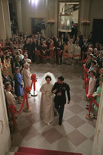 Lynda Bird Johnson Robb - Johnson and Chuck Robb's wedding at the White House, December 9, 1967