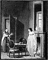 Målning av Per Hilleström d.ä. Ett fruntimmer värmer sin bakdel och en gumma kommer at sällja fastlagsris - Nordiska Museet - NMA.0052681.jpg