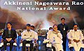 M. Venkaiah Naidu at an event to present Akkineni Nageswara Rao National Film Award, in Hyderabad on September 17. 2017. The Chief Minister of Telangana, Shri Chandrashekar Rao, the Film Director.jpg