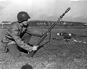Grenade launcher - Rifle grenade on an M1 Garand