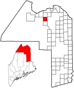 Eagle Lake, Maine - Image: ME Map location of Eagle Lake