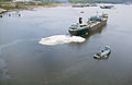 MOBILE OIL TANKER AND TUG BOAT ON ARTHUR KILL-THE WATERWAY BETWEEN NEW JERSEY AND STATEN ISLAND WHICH IS THE SITE OF.. copy.jpg