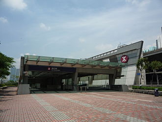 Nam Cheong station - Exit C, adjacent to a subway