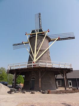 De molen in april 2011