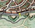 Maastricht, omgeving Nieuwenhofpoortje, detail kaart Joan Blaeu, 1649 (Atlas van Loon, 1652).jpg