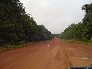 Transport in Guyana - Mabura Road south of Linden