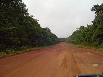 Transport in Guyana - Mabura Road south of Linden