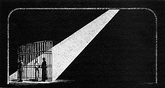Robert Edmond Jones - Set design by Robert Edmond Jones for the condemned woman's cell in Machinal (1928)