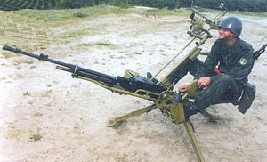NSV machine gun - Polish NSV on an anti-aircraft mount