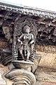 Madanikas below the eaves Chennakeshava temple, Belur(3).jpg
