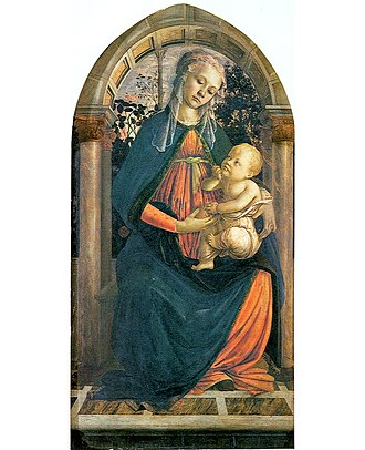 Madonna of the Rose Garden (Botticelli) - Image: Madonna del roseto Botticelli