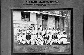 Madras Music Academy - The Music Academy, Madras in 1943.