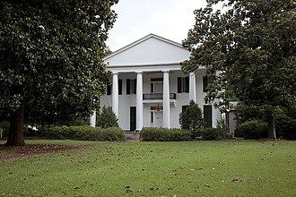 Magnolia Grove (Greensboro, Alabama) - Front elevation of Magnolia Grove in 2010, by Carol M. Highsmith