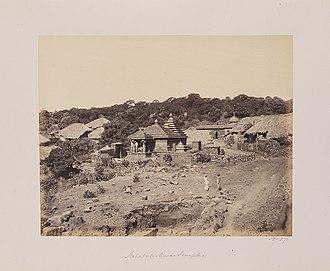 Old Mahabaleshwar - old photo of Atibaleshwar temple and panchganga temple backword.
